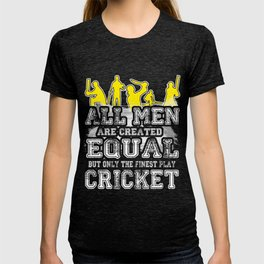 Funny Novelty Gift For Cricket Fan/Player T-shirt