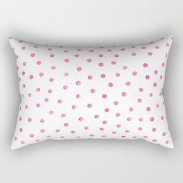 Pink Polka Dots Rectangular Pillow