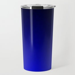 Midnight Black to blue ombre flame gradient Travel Mug