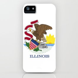 State flag of Illinois iPhone Case