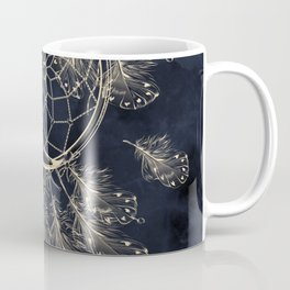 GOLDEN MOON IN DARK NIGHT Coffee Mug