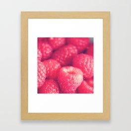 raspberries. les framboises Framed Art Print
