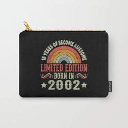 18 Years Birthday Limited Edition Born 2002 Carry-All Pouch
