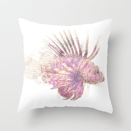 Lets draw a Lionfish Throw Pillow
