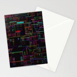 Midnight in Manarola, Cinque Terre, Italy Stationery Cards