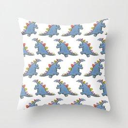 Stomp-a-saurus! Throw Pillow