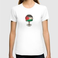 palestine T-shirts featuring Vintage Tree of Life with Flag of Palestine by Jeff Bartels