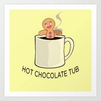 shrek Art Prints featuring Hot chocolate tub by Marlon Depiches