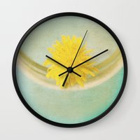 you are my sunshine Wall Clocks featuring sunshine by Beverly LeFevre
