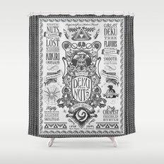 Legend of Zelda inspired Deku Nuts Vintage Advertisement Shower Curtain