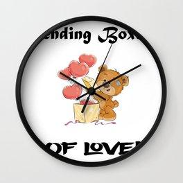 Sending Boxes Of Love Bear Gifts Wall Clock