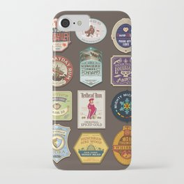 Liquor Stickers iPhone Case