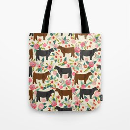 Angus cattle farm friendly gifts perfect for homesteader homestead lover Tote Bag