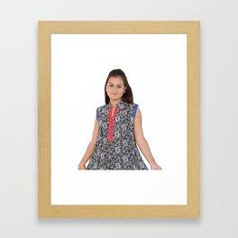 Block Print Kurtis Online Shopping Framed Art Print