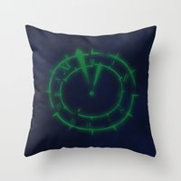 persona Throw Pillows featuring Dark Hour (Persona 3) by ASHPLUS