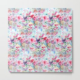 Floral Blossom Diversity Metal Print