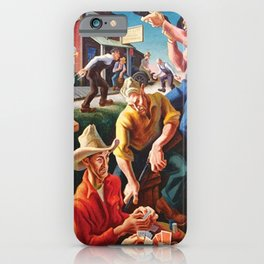 Classical Masterpiece 'Arts of the West' by Thomas Hart Benton iPhone Case