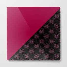 Pink and fractals Metal Print