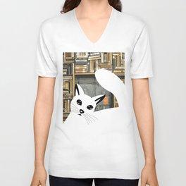 Curios cat I Unisex V-Neck