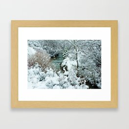 Snowy Banks Framed Art Print