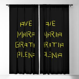 Ave Maria Latin version 5 Blackout Curtain