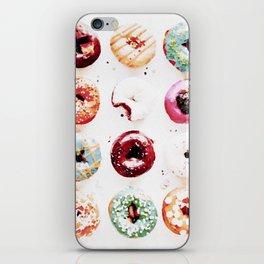 watercolor doughnuts iPhone Skin