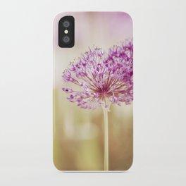 Pink Flower Photography, Purple Floral Art, Pink Beige Photo, Botanical Spring Artwork iPhone Case