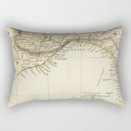 Vintage Retro Map Northern Italy Rectangular Pillow