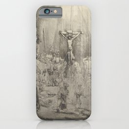 "Rembrandt - Christ Crucified Between the Two Thieves (""The Three Crosses"") (1653) iPhone Case"