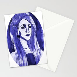 Purple Woman Stationery Cards