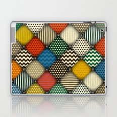buttoned patches retro Laptop & iPad Skin