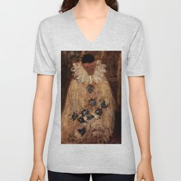 """""""The Painter Armand-Jean as a Clown"""" by Georges Seurat Unisex V-Neck"""