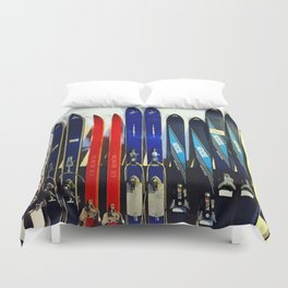 Vintage Ski Collection Duvet Cover