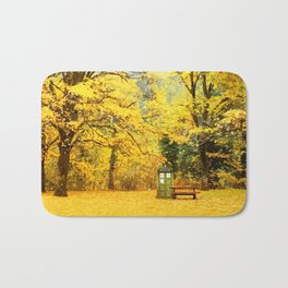 Tardis In The Forest Autumn Bath Mat