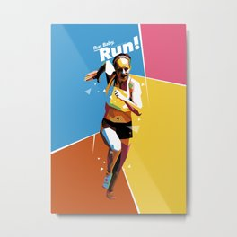 Run Baby Run WPAP [alt color #3] Metal Print