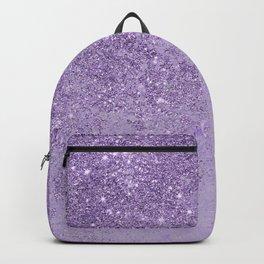 Modern elegant lavender lilac glitter marble Backpack