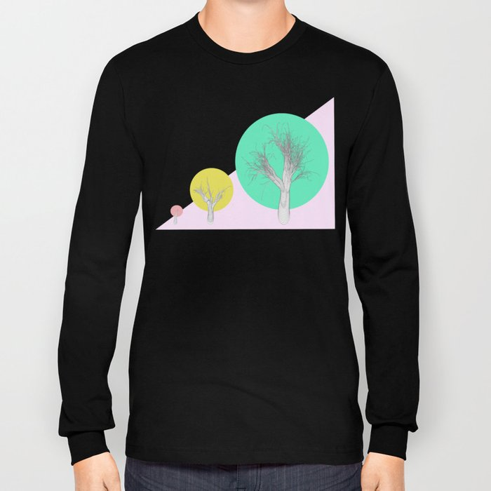 In my world forests are geometric Long Sleeve T-shirt