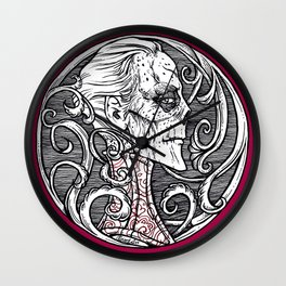 Erik Red Death - Black and White Version  Wall Clock
