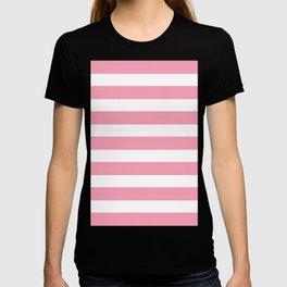 Salmon Pink & White Stripes T-shirt
