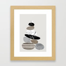 Stones Framed Art Print