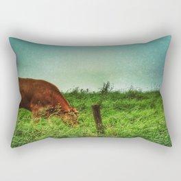 who says mooo Rectangular Pillow
