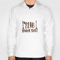 221b Hoodies featuring 221B Baker Street by AliceInWonderbookland