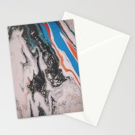 Azure Oil Spill Stationery Cards