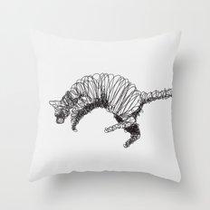 Cat Flaying Throw Pillow