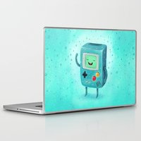 game Laptop & iPad Skins featuring Game Beemo by Lime