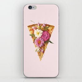 FLORAL PIZZA iPhone Skin