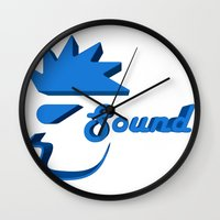 sound Wall Clocks featuring Sound by Zeep Design