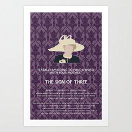 The Sign of Three - Mrs. Hudson Art Print