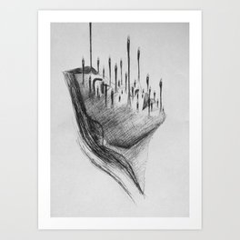 The day the rain left  Art Print