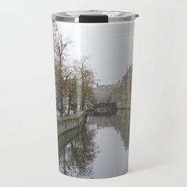 Brugge in the mist Travel Mug